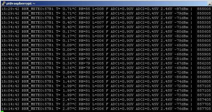bbm_logger screen podłączony