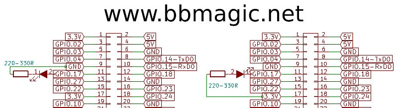 BBMagic RPI LED connection