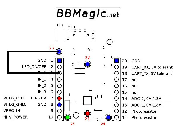 BBMagic MAGNETO IN_0 to GND