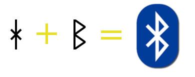 Bluetooth logo złożenie