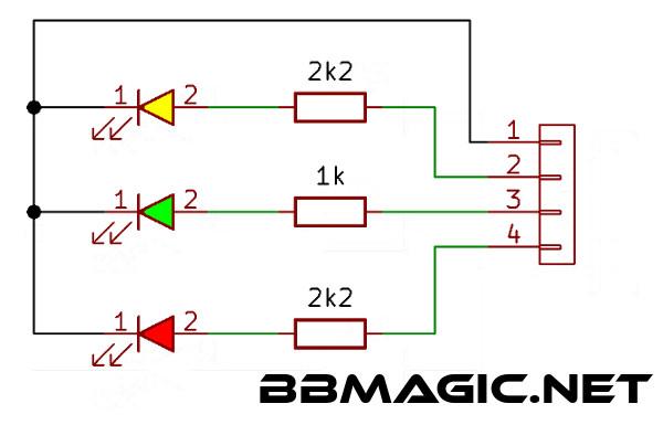 ledy dla BBMagic schemat