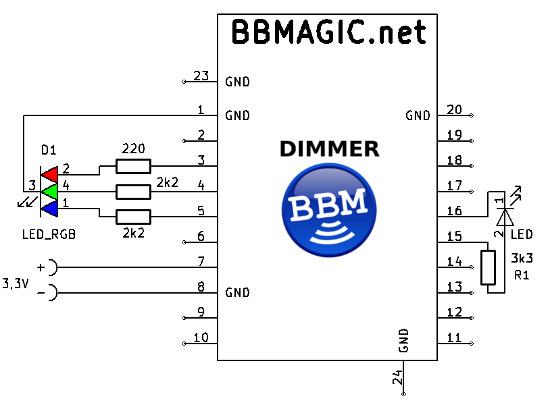 BBMagic DIMMER RGB LED