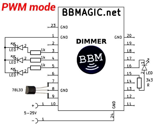 BBMagic DIMMER PWM schemat