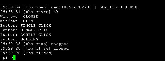 BBMagic sesnor screen example