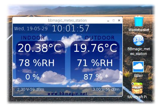 Aplikacja BBMagic METEO station