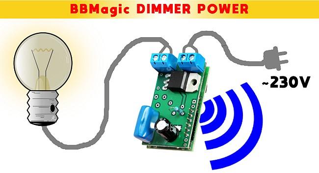 BBMagic DIMMER POWER podłączenie