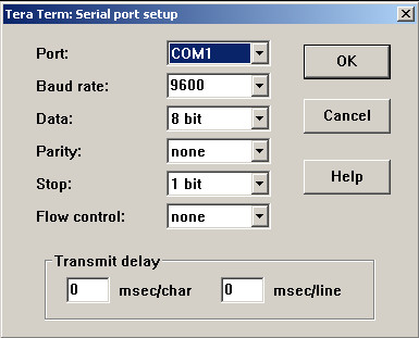 Tera Term Serial Port Setup