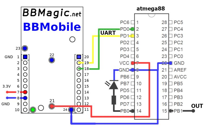 Remote Switch atmega88 schemat